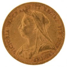 Second Hand 22ct Yellow Gold 1895 Queen Victoria Full Sovereign Coin ELM(106706)18/4/19