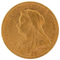 Second Hand 22ct Yellow Gold 1895 Queen Victoria Full Sovereign Coin