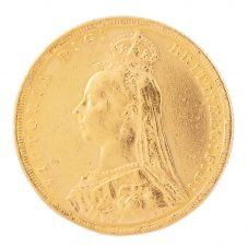 Second Hand 22ct Yellow Gold 1890 Queen Victoria Full Sovereign Coin J0512118(459) 4170031