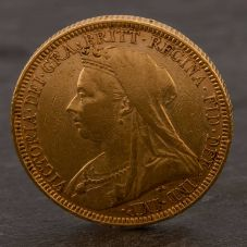 Second Hand 22ct Yellow Gold 1893 Queen Victoria Full Sovereign Coin ELM106497(08/11) 4170036