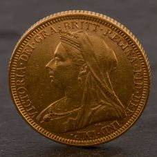 Second Hand 22ct Yellow Gold 1895 Queen Victoria Full Sovereign Coin ELM106947(0811) 4170037