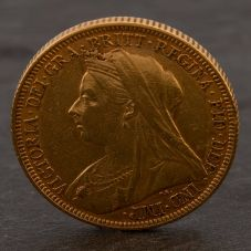 Second Hand 22ct Yellow Gold 1896 Queen Victoria Full Sovereign Coin ELM106947(08/11) 4170042