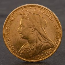 Second Hand 22ct Yellow Gold 1899 Queen Victoria Full Sovereign Coin ELM106947(08/11) 4170043