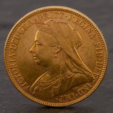 Second Hand 22ct Yellow Gold 1898 Queen Victoria Full Sovereign Coin ELM106947(08/11) 4170045