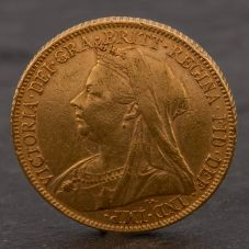 Second Hand 22ct Yellow Gold 1899 Queen Victoria Full Sovereign Coin ELM106947(08/11) 4170046