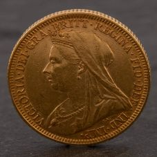 Second Hand 22ct Yellow Gold 1894 Queen Victoria Full Sovereign Coin ELM106947(08/11) 4170047
