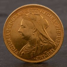 Second Hand 22ct Yellow Gold 1896 Queen Victoria Full Sovereign Coin ELM106947(08/11) 4170048