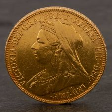 Second Hand 22ct Yellow Gold 1901 Queen Victoria Full Sovereign Coin ELM106947(08/11) 4170049