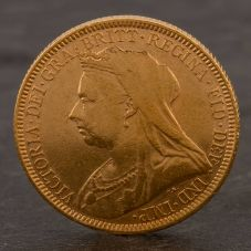 Second Hand 22ct Yellow Gold 1893 Queen Victoria Full Sovereign Coin ELM10647(08/11) 4170050