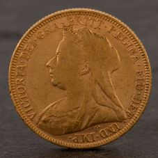 Second Hand 22ct Yellow Gold 1896 Queen Victoria Full Sovereign Coin ELM106947(08/11) 4170051