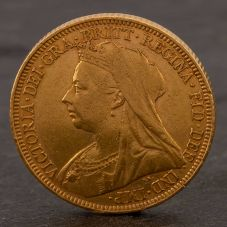 Second Hand 22ct Yellow Gold 1895 Queen Victoria Full Sovereign Coin ELM106947(08/11) 4170056