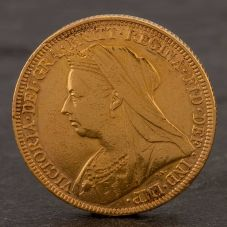 Second Hand 22ct Yellow Gold 1895 Queen Victoria Full Sovereign Coin ELM106947(08/11) 4170058