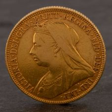 Second Hand 22ct Yellow Gold 1893 Queen Victoria Full Sovereign Coin ELM106947(08/11) 4170059