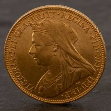 Second Hand 22ct Yellow Gold 1901 Queen Victoria Full Sovereign Coin ELM106947(08/11) 4170060