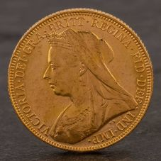 Second Hand 22ct Yellow Gold 1900 Queen Victoria Full Sovereign Coin ELM106947(08/11) 4170061