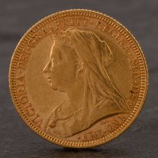 Second Hand 22ct Yellow Gold 1893 Queen Victoria Full Sovereign Coin ELM106947(08/11) 4170062