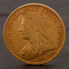Second Hand 22ct Yellow Gold 1895 Queen Victoria Full Sovereign Coin ELM106947(08/11) 4170063