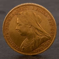 Second Hand 22ct Yellow Gold 1899 Queen Victoria Full Sovereign Coin ELM106947(08/11) 4170065