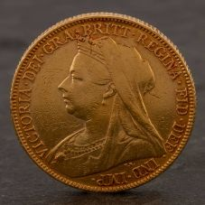 Second Hand 22ct Yellow Gold 1899 Queen Victoria Full Sovereign Coin ELM106947(08/11) 4170068