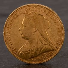 Second Hand 22ct Yellow Gold 1901 Queen Victoria Full Sovereign Coin ELM106947(08/11) 4170070