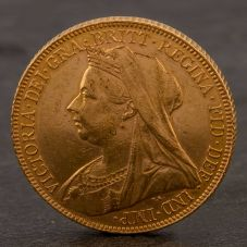 Second Hand 22ct Yellow Gold 1900 Queen Victoria Full Sovereign Coin ELM106947(08/11) 4170072