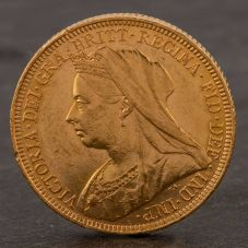 Second Hand 22ct Yellow Gold 1896 Queen Victoria Full Sovereign Coin ELM106947(08/11) 4170074