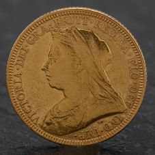 Second Hand Queen Victoria 1893 Full Sovereign Coin