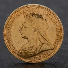 Second Hand Queen Victoria 1895 Full Sovereign Coin