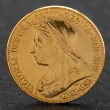 Second Hand Queen Victoria 1896 Full Sovereign Coin