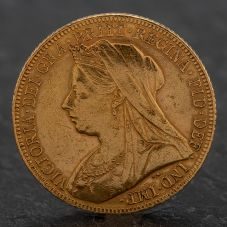 Second Hand Queen Victoria 1899 Full Sovereign Coin