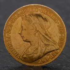 Second Hand Queen Victoria 1901 Full Sovereign Coin