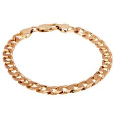 Second Hand 9ct Yellow Gold Mens Curb Chain Bracelet 4174916