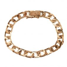 Second Hand 9ct Yellow Gold Mens Curb Chain Bracelet 4174930