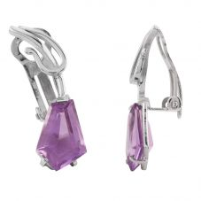 Second Hand 18ct White Gold Amethyst Clip-On Earrings L511554(452)
