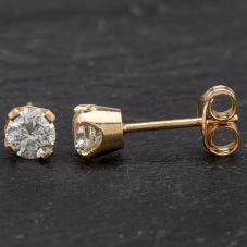Second Hand Diamond Single Stud Earrings 4183802