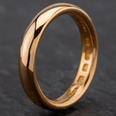 Second Hand 22ct Yellow Gold 4mm Court Wedding Ring 4187008