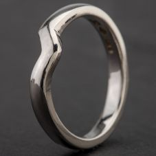 Second Hand Platinum Shaped Wedding Ring 4187034