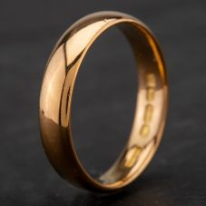 Second Hand 22ct Yellow Gold Plain Wedding Ring 4187035