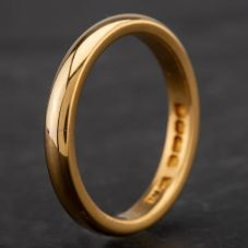 Second Hand 22ct Yellow Gold 3mm Plain Wedding Ring 4187059