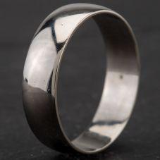 Second Hand Palladium 6mm D-Shape Wedding Ring 4187064