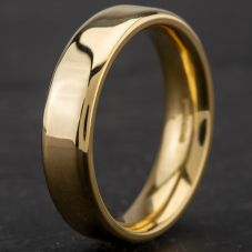 Second Hand 18ct Yellow Gold 5mm Plain Court Wedding Ring 4187066