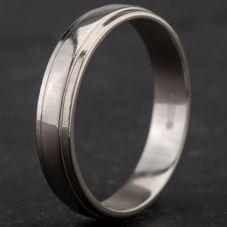 Second Hand Palladium 4mm Lined Wedding Ring 4187068
