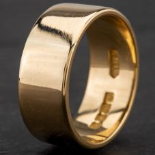 Second Hand 18ct Yellow Gold 9mm Plain Flat Wedding Ring 4187077