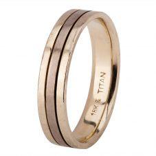 Second Hand Mens 5.1mm Titanium Court Wedding Ring 4187530