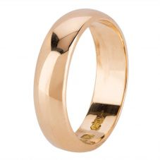 Second Hand 18ct Yellow Gold 6mm D Shaped Plain Wedding Ring