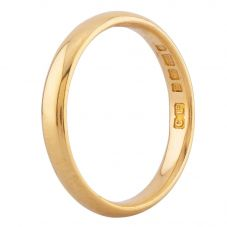 Second Hand 22ct Yellow Gold 2mm Court Shaped Wedding Ring