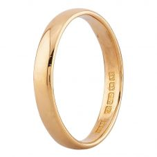 Second Hand 22ct Yellow Gold 3mm Plain Wedding Ring
