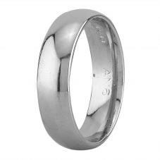 Second Hand Platinum Plain Court Shaped Wedding Ring