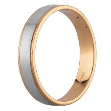 Second Hand 9ct Two Colour Gold 5mm Plain Flat Wedding Ring D516453(448)