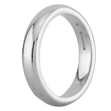 Second Hand 18ct White Gold 4mm Court Shaped Plain Wedding Ring